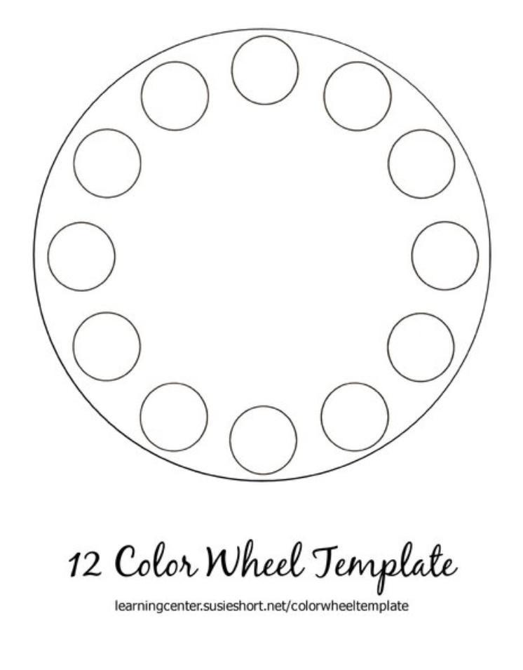 search results for  u201c12 color wheel template u201d  u2013 calendar 2015