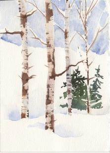 Watercolor Techniques For Painting Birch Trees With Susie